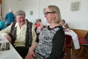 li: Karla König, re: Margitta Schütze